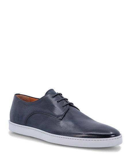 Santoni Men's Rain Leather Low-Top Sneakers