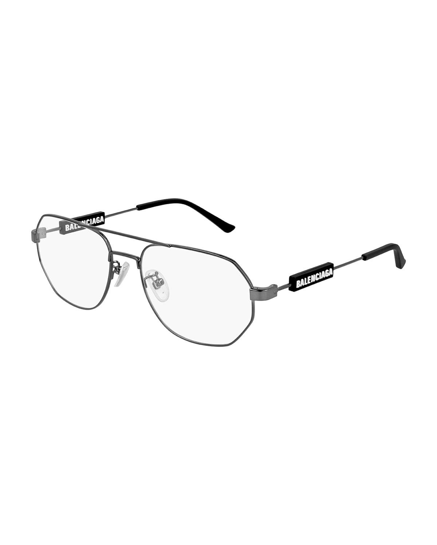 Men's Metal Double-Bridge Optical Frames