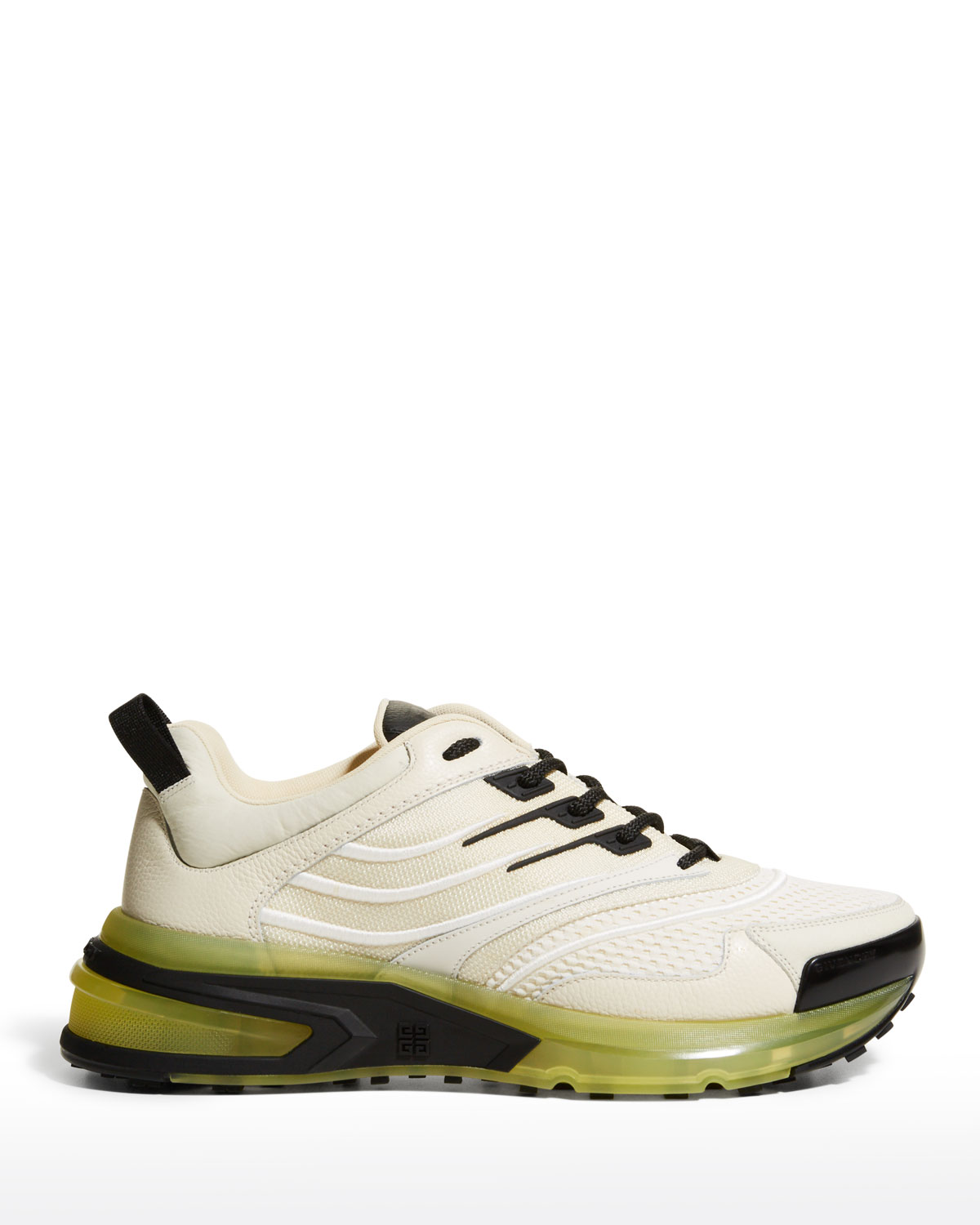 Givenchy MEN'S MIX-MEDIA CLEAR-SOLE CHUNKY SNEAKERS