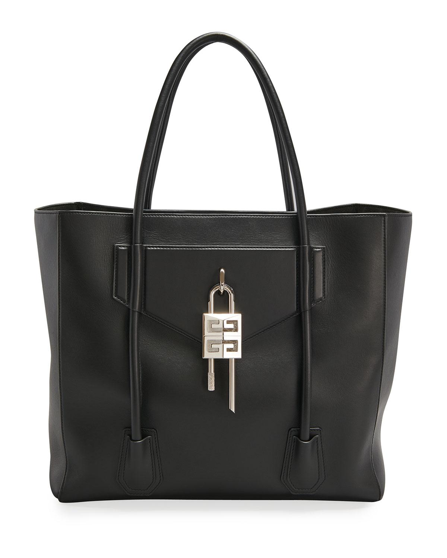 Givenchy Leathers MEN'S ANTIGONA LOCK SOFT TOTE BAG