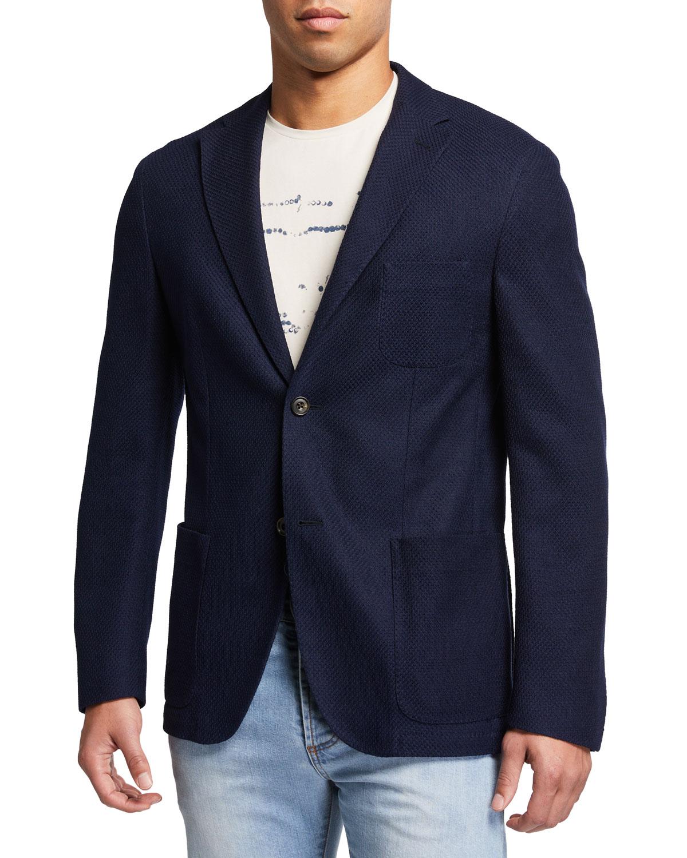Men's Cotton Sweater Jacket