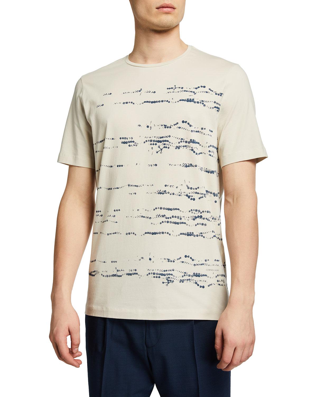 Men's Paint-Print Cotton T-Shirt