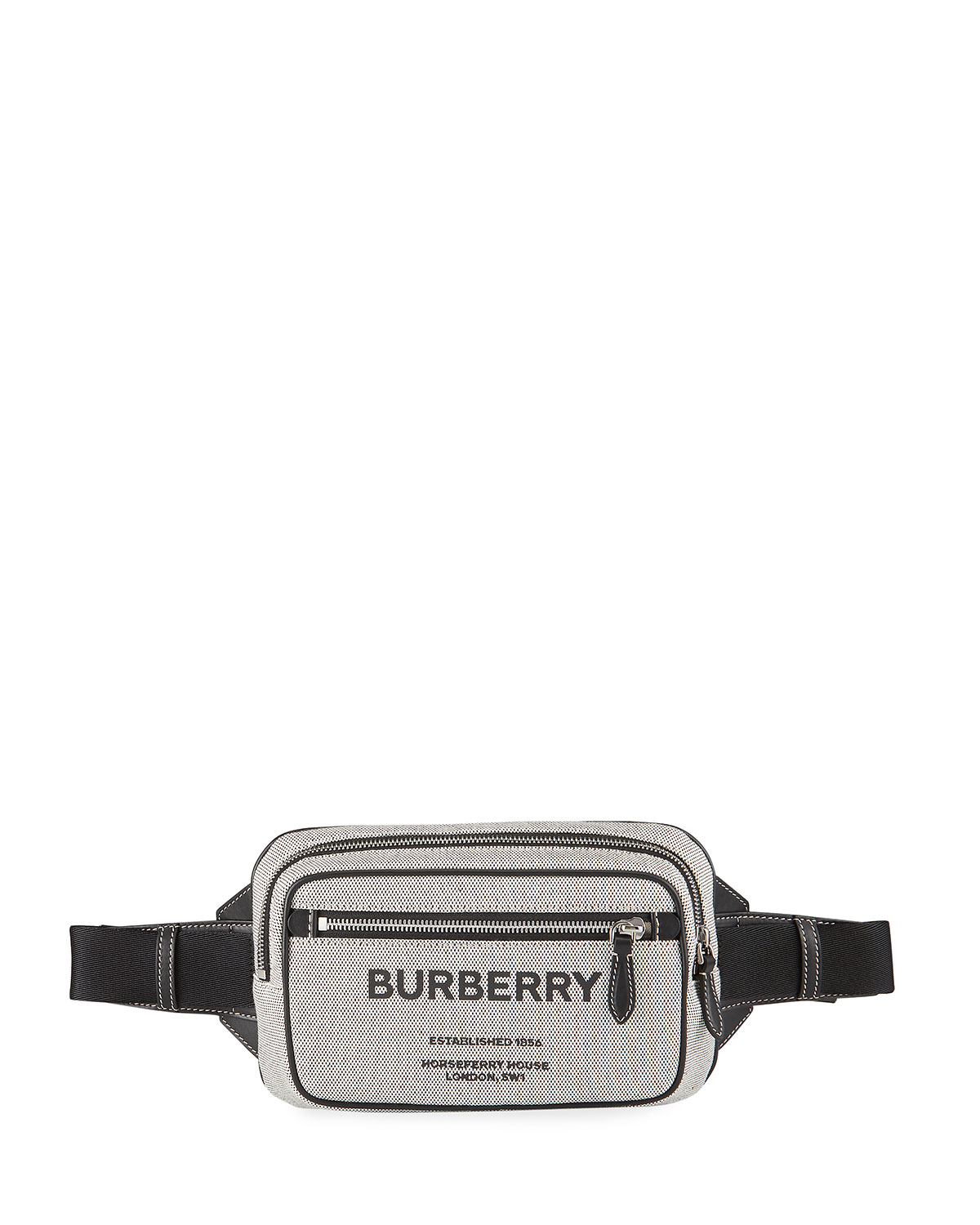 Burberry MEN'S WEST CANVAS LOGO BELT BAG
