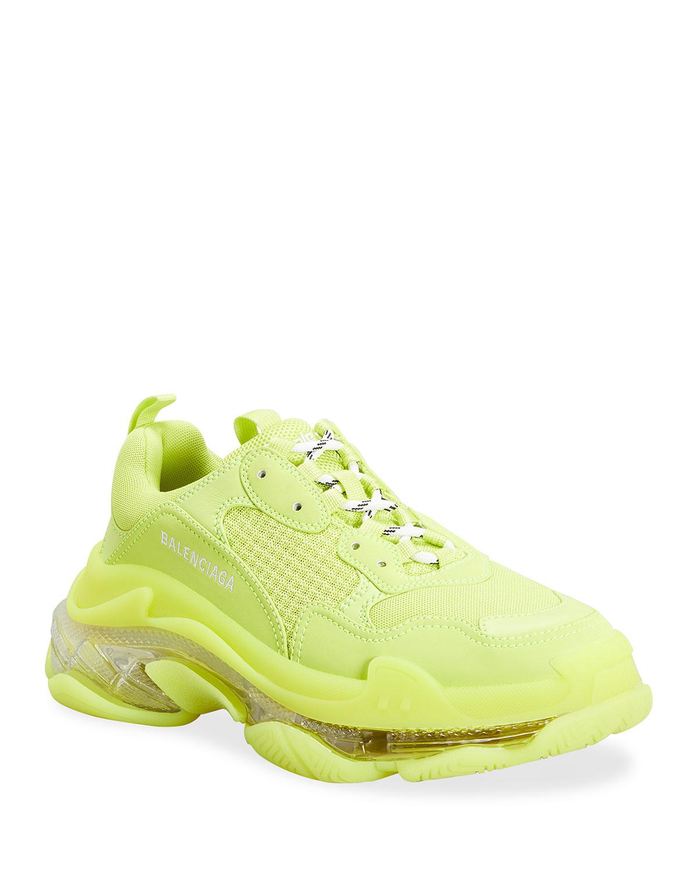 Balenciaga Sneakers MEN'S TRIPLE S CLEAR-SOLE SNEAKERS