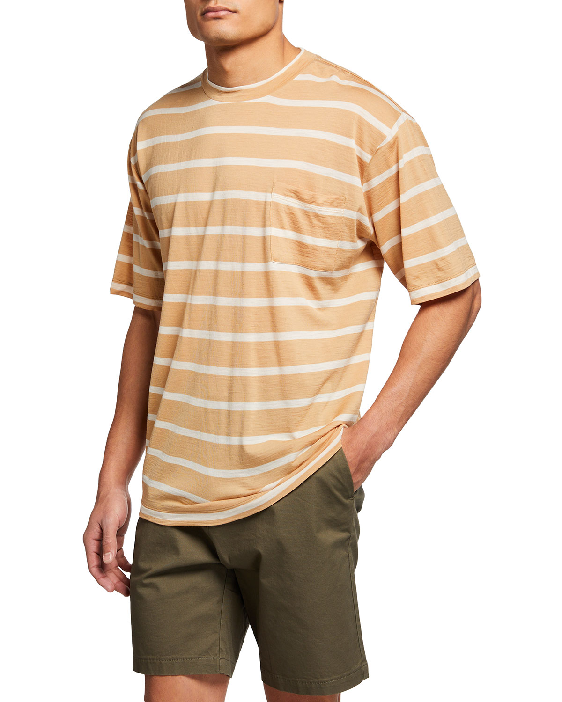 Scotch & Soda T-shirts MEN'S STRIPED WOOL T-SHIRT