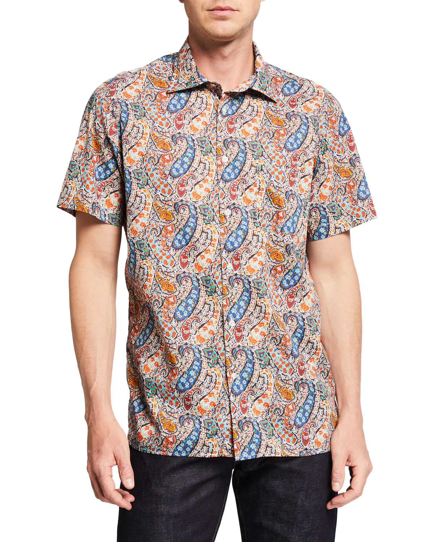 Men's Paisley Liberty-Print Sport Shirt