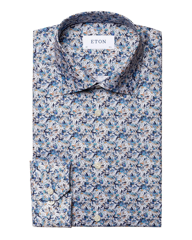 Men's Slim-Fit Floral-Print Dress Shirt