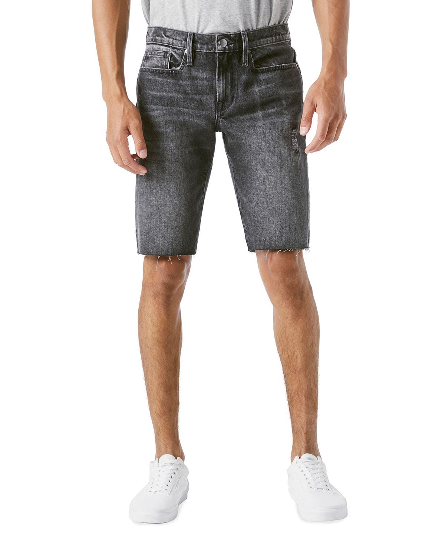 Men's L'Homme Faded Cutoff Shorts