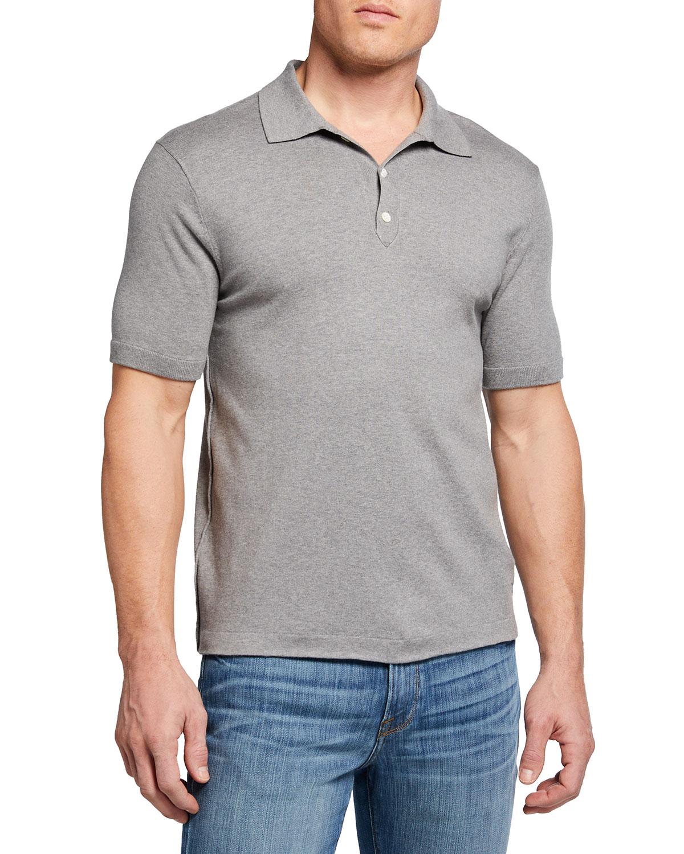 Men's Luxe Silk-Blend Polo Shirt