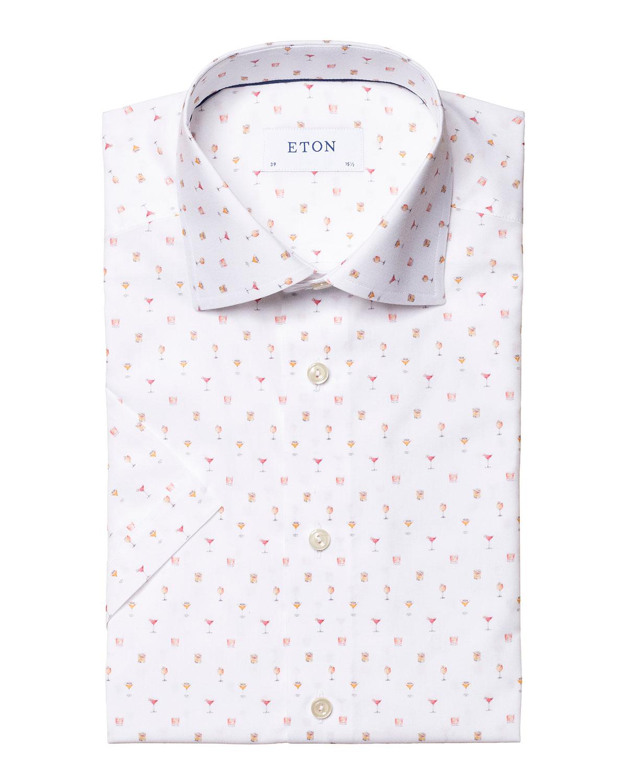 Men's Slim-Fit Cocktail-Print Sport Shirt