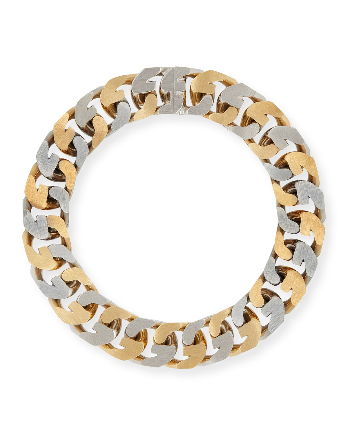 """Givenchy MEN'S TWO-TONE G-CHAIN NECKLACE, 18""""L"""