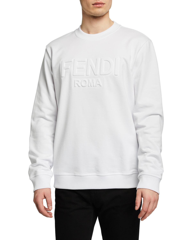 Men's Debossed-Logo Crew Sweatshirt