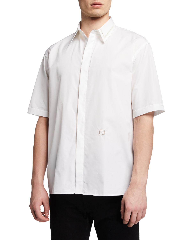 Men's Ajour Oversized Dress Shirt