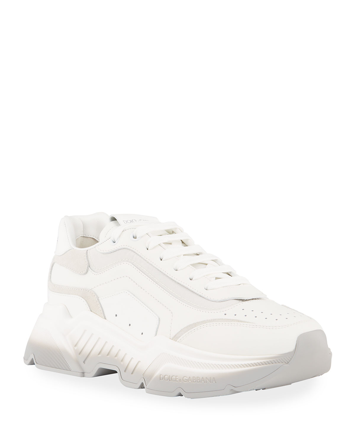 Dolce & Gabbana Suedes MEN'S RUNWAY DAYMASTER BICOLOR CHUNKY SNEAKERS