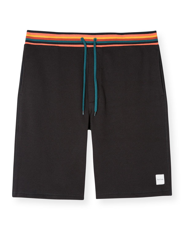 Men's Multi-Stripe Drawstring Shorts