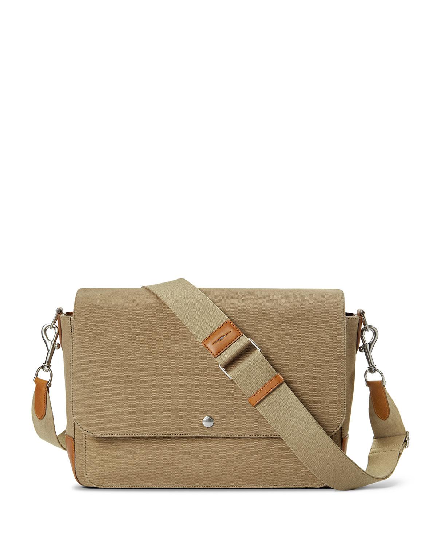 Men's Canfield Relaxed Canvas Messenger Crossbody Bag