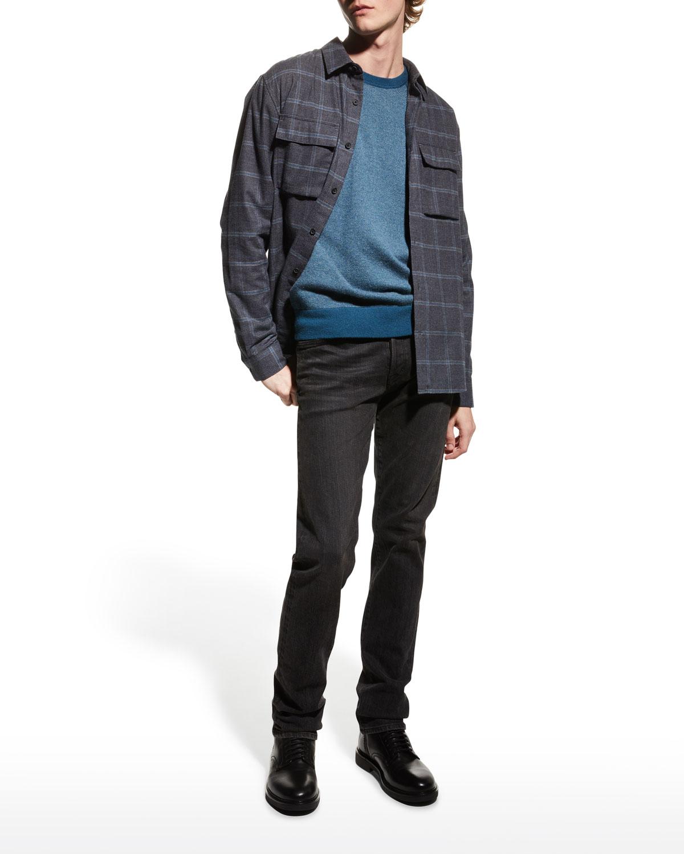 Men's Birdseye Wool-Cashmere Sweater