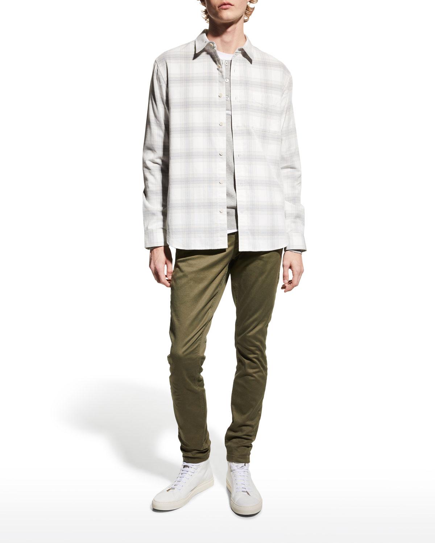 Men's Corduroy Plaid Shirt