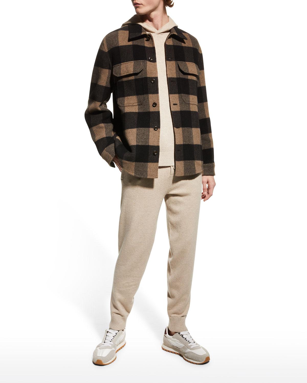 Men's Buffalo Check Wool Overshirt
