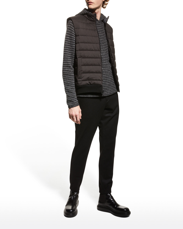 Men's Quilted Wool/Nylon Vest