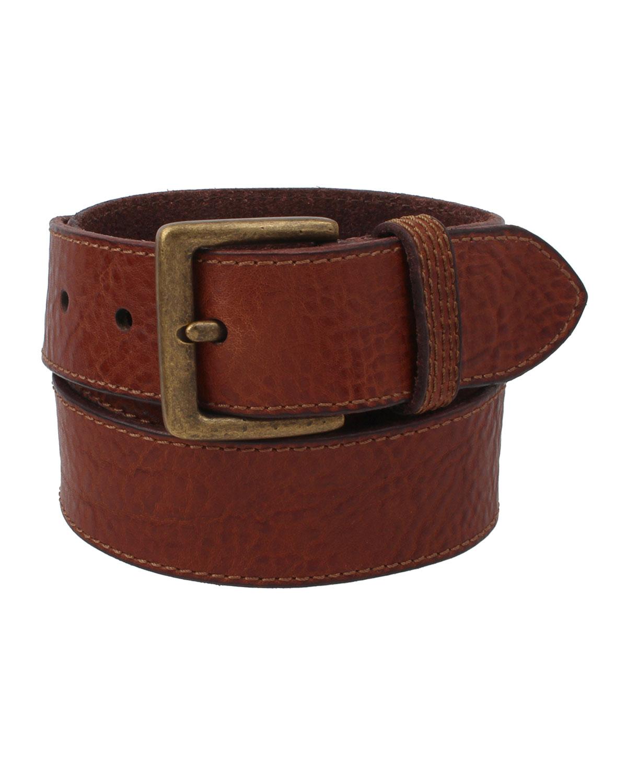 Men's Flat Panel Leather Belt