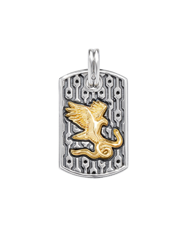 Men's Arc Eagle & Snake Pendant
