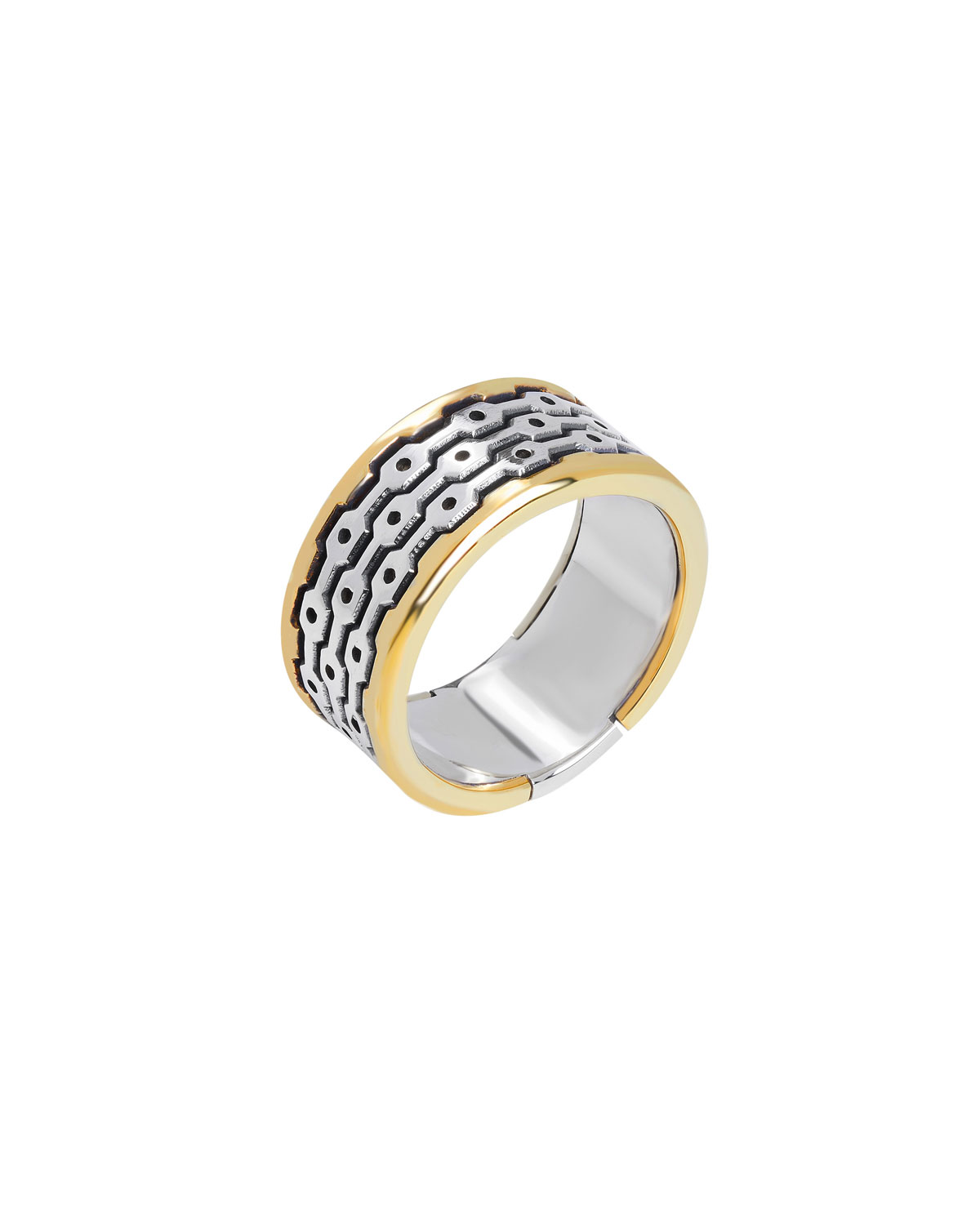 Men's Arc Textured Band Ring