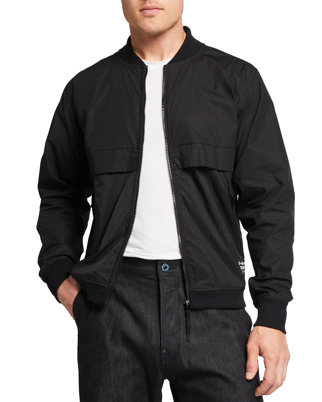 Men's Zip-Front Bomber Sweatshirt