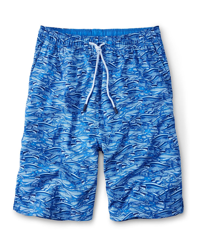 Men's Fish-Print Swim Shorts