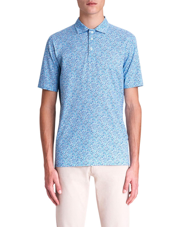 Men's OoohCotton Tech Abstract-Print Polo Shirt