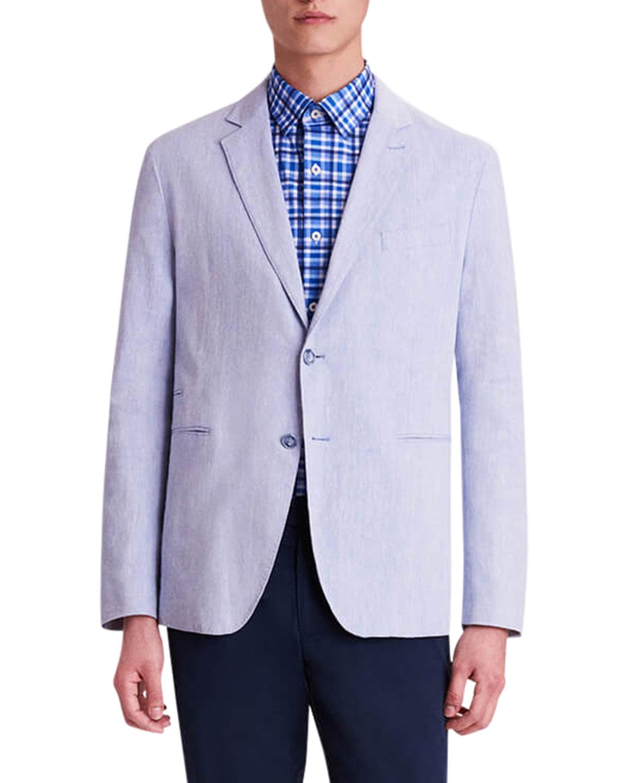 Men's Linen-Blend Two-Button Blazer