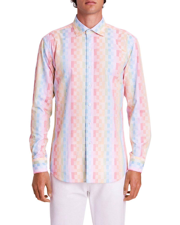 Men's Pixel Check Sport Shirt