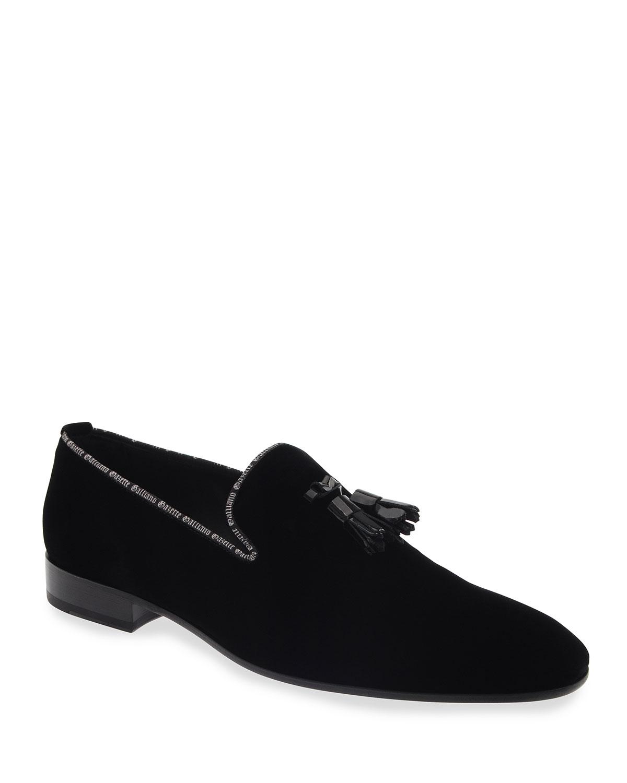Men's Tassel Velvet Loafers