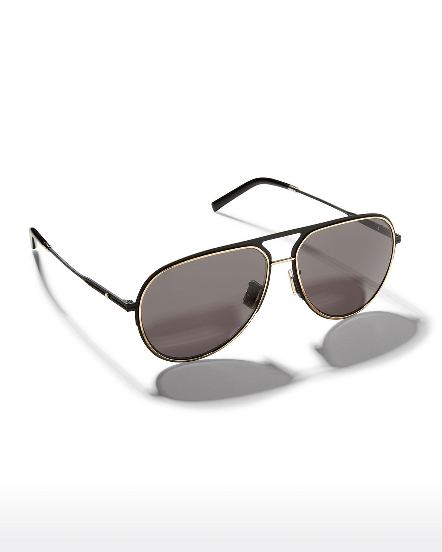 Essential 60mm Two-Tone Metal Aviator Sunglasses