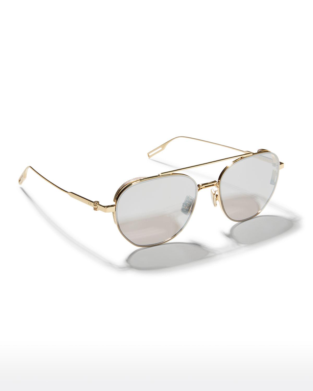 56mm Round Metal Aviator Sunglasses