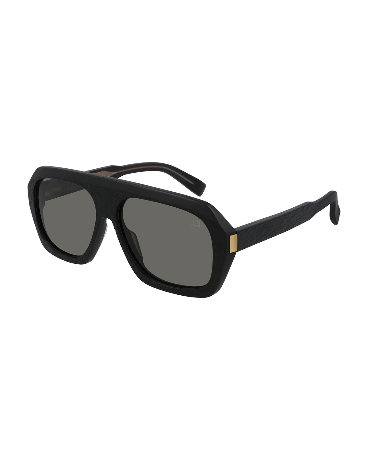 Dunhill MEN'S THICK RECTANGLE ACETATE SUNGLASSES