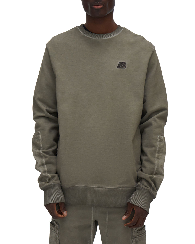 Men's Garment-Dyed Terry Military Sweatshirt