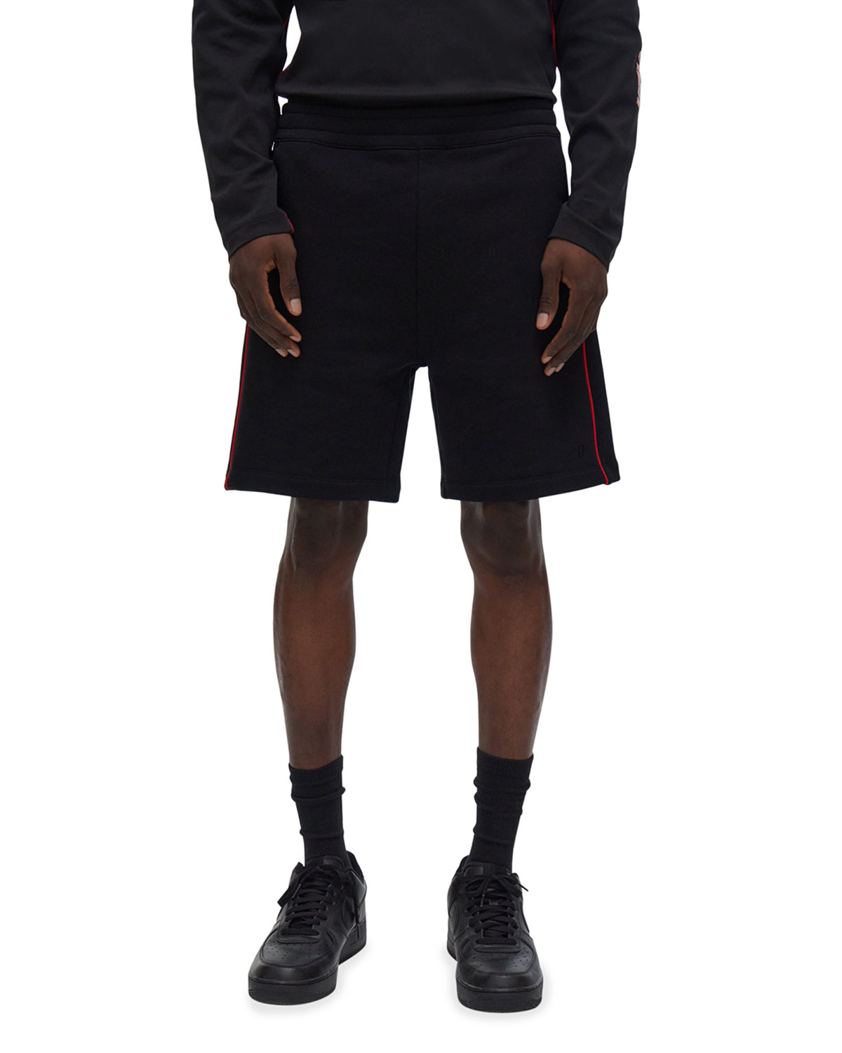Men's Loose French Terry Sweat Shorts w/ Piping