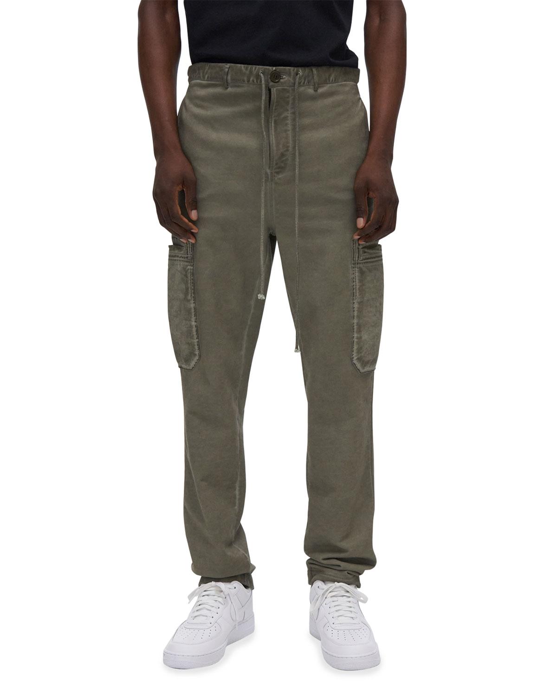 Men's Garment-Dyed Terry Cargo Sweatpants