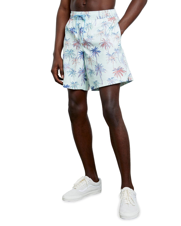 Men's Kian Floral-Print Swim Trunks
