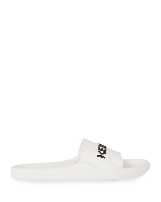 Men's Logo-Embossed Pool Slide Sandals