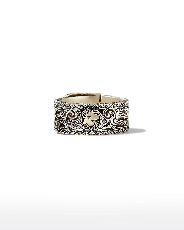 Men's GGard 12mm Sterling Silver Ring