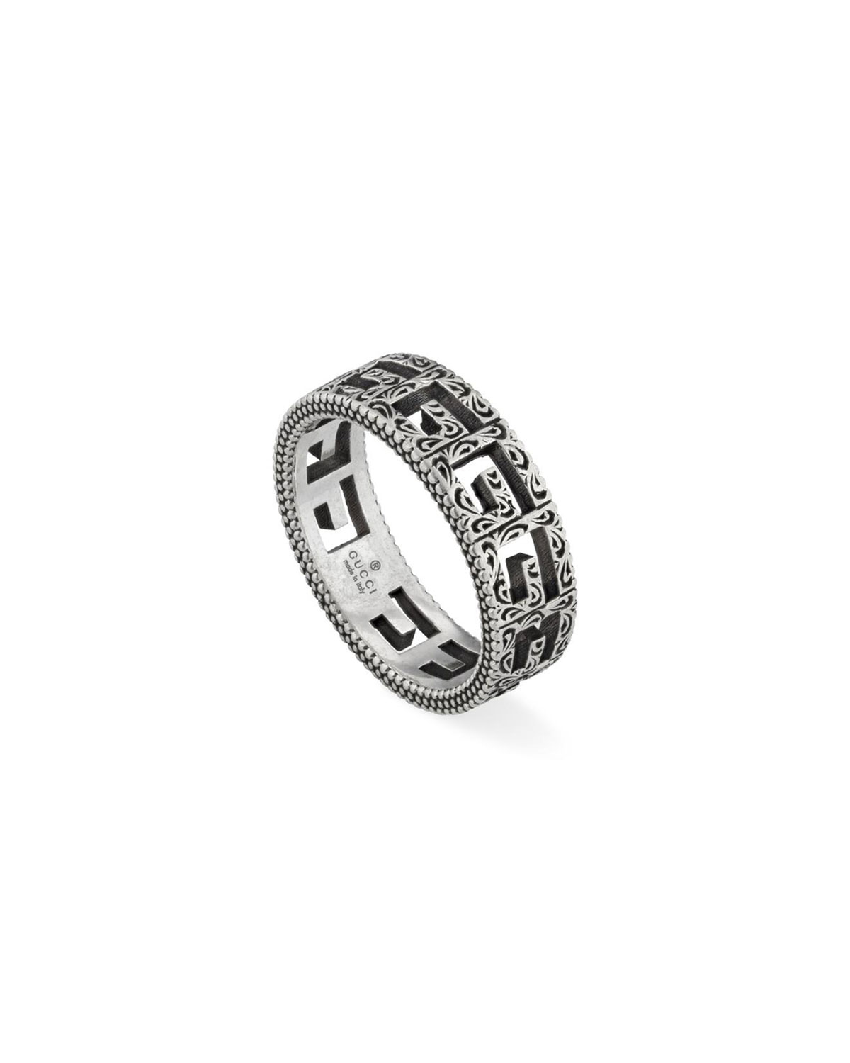 Men's G Cube 6mm Aged Silver Ring