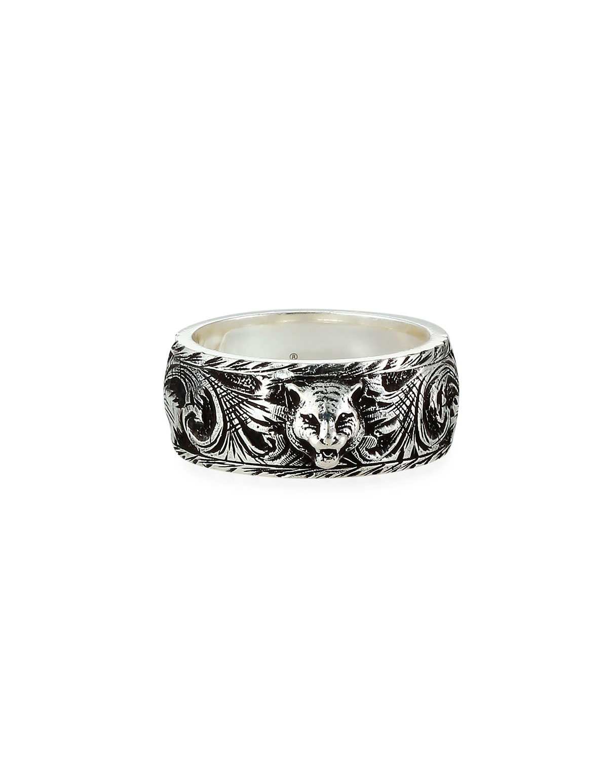 Men's Gatto Aged Sterling Silver Ring