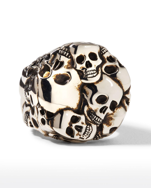 Men's 3D Multi-Skull Ring