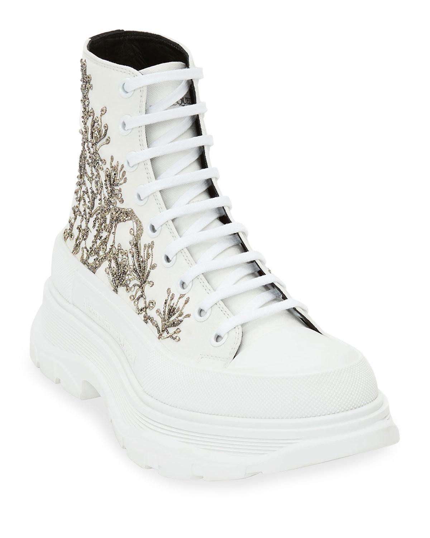 Men's Tread Slick Embellished Canvas High-Top Sneakers