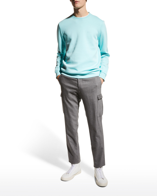 Men's Solid Pullover Crew Sweater