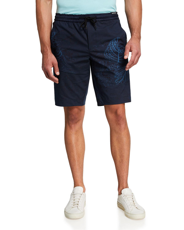 Men's Leaf Camo Wind-Resistant Shorts