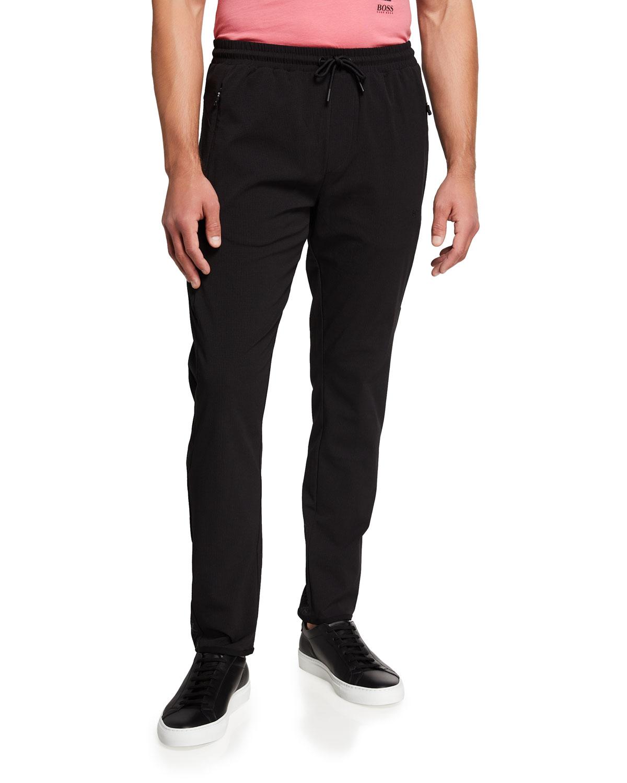 Men's Solid Stretch Jogger Pants