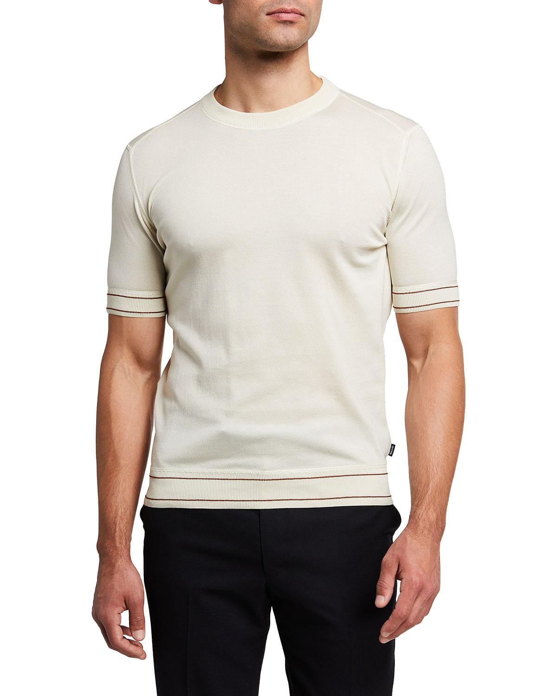 Men's Cotton T-Shirt w/ Stripe Detail